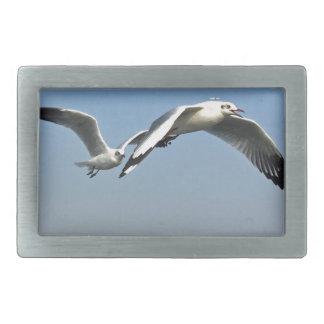 Seagulls in Flight Rectangular Belt Buckles