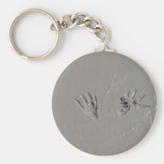 Seagulls in the Sand Basic Round Button Key Ring