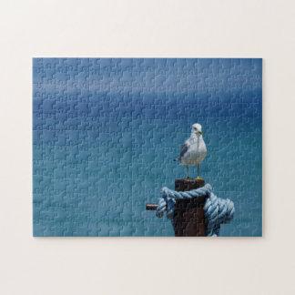 Seagulls Paradise At Mackinac Jigsaw Puzzle