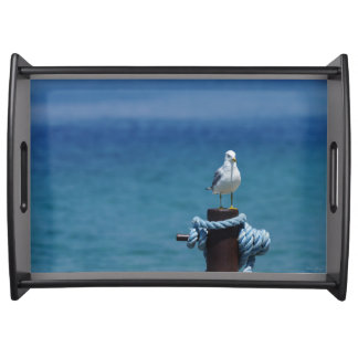 Seagulls Paradise At Mackinac Serving Tray