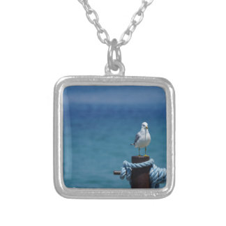 Seagulls Paradise At Mackinac Silver Plated Necklace