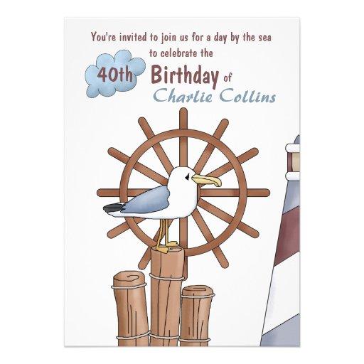 Seagull's Perch Nautical Invitation