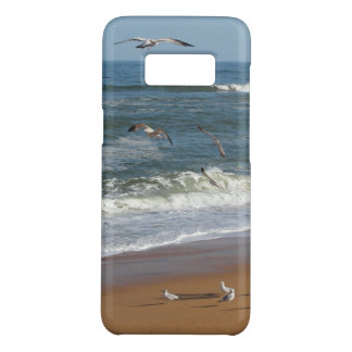 Seagulls Soaring over Waves Rolling onto a Beach Case-Mate Samsung Galaxy S8 Case
