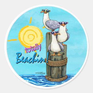 Seagulls Totally beachin stickers