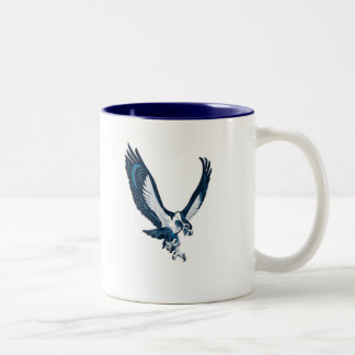 Seahawk, UNCW SWIMMING Two-Tone Coffee Mug