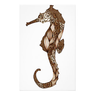 Seahorse 3 stationery design