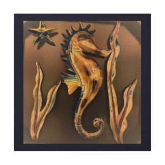 Seahorse Abstract Art