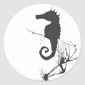 Seahorse and Seaweed #1 Classic Round Sticker