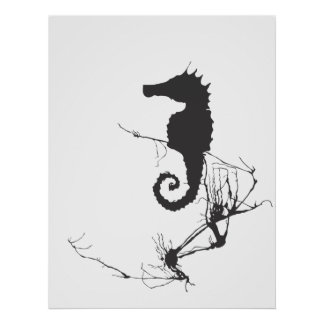 Seahorse and Seaweed #1 Poster