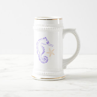 Seahorse and Starfish Beer Stein