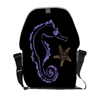 Seahorse and Starfish Commuter Bag