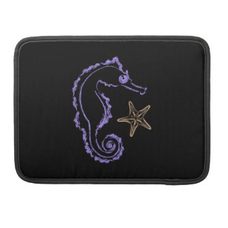 Seahorse and Starfish Sleeve For MacBooks