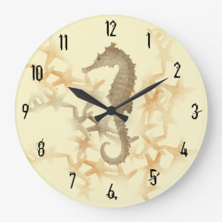 Seahorse and Starfish Wall Clock by Julie Everhart
