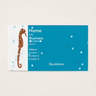 Seahorse Aquatic Business Card