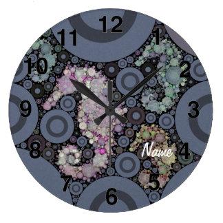 Seahorse art large clock