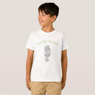 Seahorse Artwork T-Shirt
