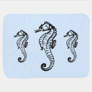 Seahorse Baby Blanket