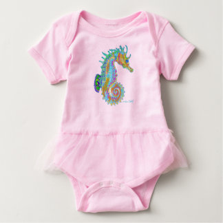 Seahorse baby tutu dress