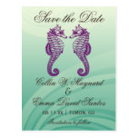 Seahorse Beach Wedding Save the Date Cards Postcards