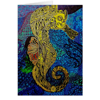 Seahorse blank notecards customize it card