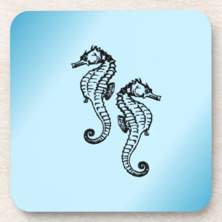 Seahorse Blue Coaster