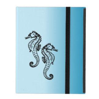 Seahorse Blue iPad Case