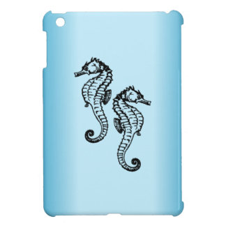 Seahorse Blue iPad Mini Cover