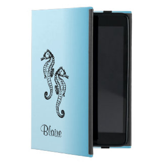 Seahorse Blue iPad Mini Cover