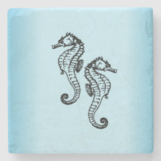 Seahorse Blue Stone Coaster
