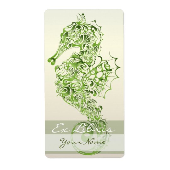 Seahorse Book Plate 7 - Green