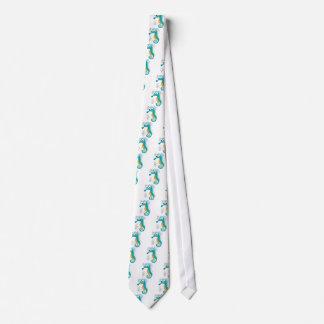 Seahorse bubbles tie