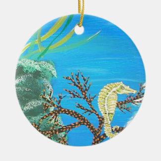 Seahorse Ceramic Ornament