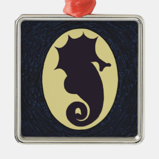 Seahorse Christmas Metal Ornament