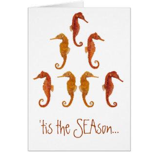 Seahorse Christmas Tree Card