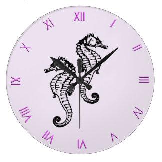 Seahorse Clock with Roman Numerals