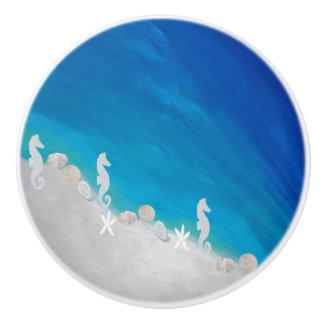 Seahorse coastal beach cabinet knob