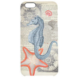 Seahorse  collage clear iPhone 6 plus case