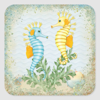 Seahorse Fantasy Square Sticker