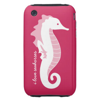 Seahorse Frolic iPhone 3G Case-Mate Tough - Pink iPhone 3 Tough Cover