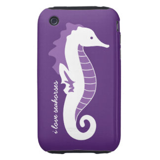 Seahorse Frolic iPhone 3G Case-Mate Tough - Purple Tough iPhone 3 Covers
