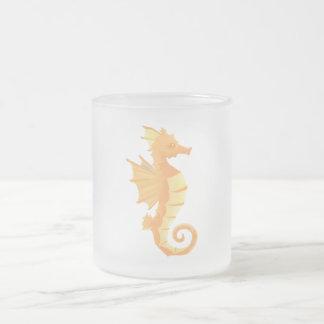 Seahorse Frosted Coffee Tea Mug 10 oz