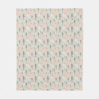 Seahorse Gardens Pastel Ocean Pattern Fleece Blanket