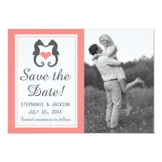 Seahorse Heart - Save The Date Card