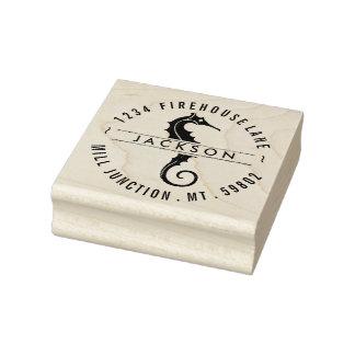 Seahorse In Circle Return Address Stamp