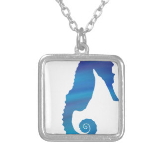 Seahorse in the Ocean Silver Plated Necklace