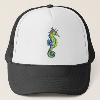Seahorse Inky Lime Trucker Hat
