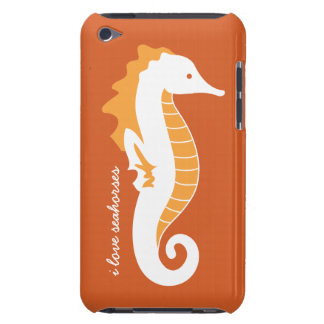 Seahorse iPod Touch CaseMate Barely There - Orange Barely There iPod Covers