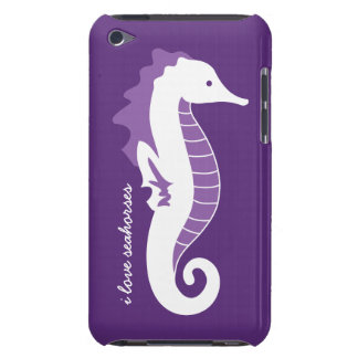 Seahorse iPod Touch CaseMate Barely There - Purple iPod Touch Case-Mate Case
