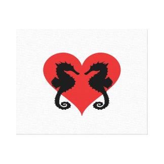 Seahorse love canvas print