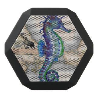 Seahorse Map Gibraltar Black Bluetooth Speaker